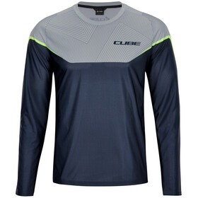 Cube Edge Maillot manches longues à col rond Homme, grey´n´lime